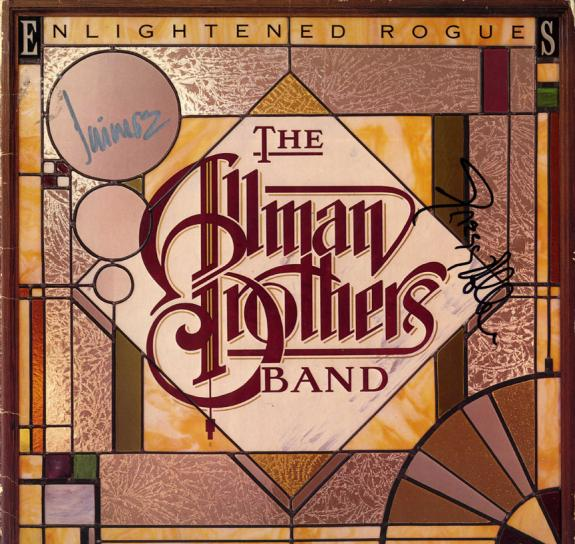 Allman Brothers Signed Enlightened Rogues Album Cover UACC RD AFTAL RACC TS