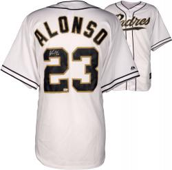 Yonder Alonso San Diego Padres Autographed White Jersey