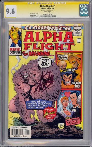 Alpha Flight #1 Cgc 9.6 White Ss Stan Lee Signed Signature Series #1197167024