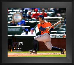 Jose Altuve Houston Astros Framed 20'' x 24'' Gamebreaker Photograph with Game-Used Ball - Mounted Memories