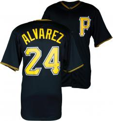 Pedro Alvarez Pittsburgh Pirates Autographed Replica Black Jersey - Mounted Memories