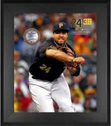 "Pedro Alvarez Pittsburgh Pirates Framed 20"" x 24"" Gamebreaker Photograph with Game-Used Ball"