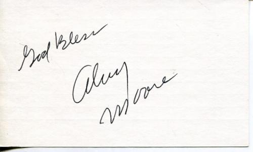 Alvy Moore Green Acres Walt Disney Mickey Mouse Show Actor Signed Card Autograph