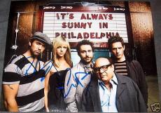 Always Sunny In Philadelphia Cast Autograph Promo Photo