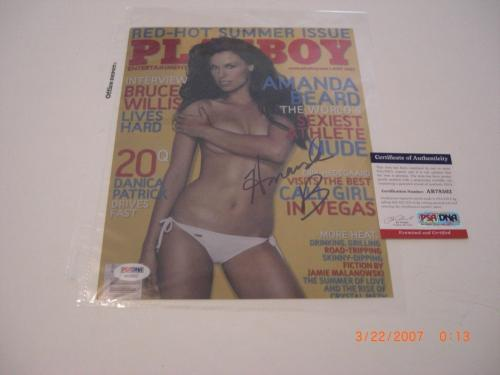 Amanda Beard Usa Olympics,playboy Sexy Cover Psa/dna Signed 8x10 Photo
