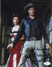 Amanda Blake Jim Arness Gunsmoke Jsa Coa Hand Signed 8x10 Photo Autograph