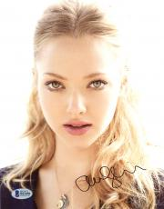 "Amanda Seyfried Autographed 8"" x 10"" Pink Lips Close Up Photograph - Beckett COA"