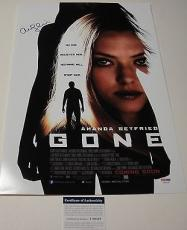 "Amanda Seyfried Signed ""gone"" 12x18 Movie Poster Photo Psa/dna Coa T60219"