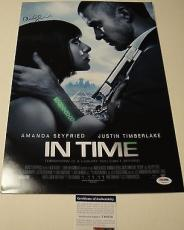 "Amanda Seyfried Signed ""in Time"" 12x18 Movie Poster Photo Psa/dna Coa T60220"