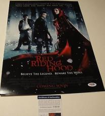 "Amanda Seyfried Signed ""red Riding Hood"" 12x18 Movie Poster Photo Psa/dna T60219"