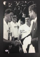 Amazing Bill Clinton Signed Auto With John F. Kennedy 12x18 Large Photo Psa Dna