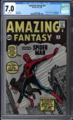 Amazing Fantasy #15 Cgc 7.0 White Pages Origin & 1st App Spider-man #1224511002