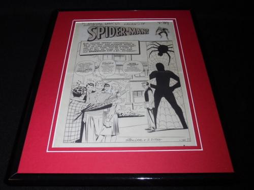 Amazing Fantasy #15 Framed 11x14 Poster Display Official Repro Spiderman
