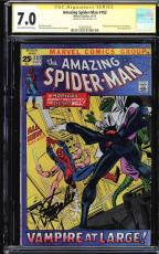 Amazing Spider-man #102 Cgc 7.0 Oww Ss Stan Lee Org. 2nd App Morbius #1508473009