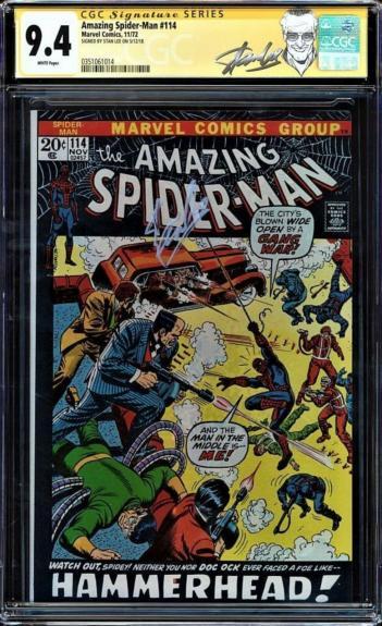 Amazing Spider-man #114 Cgc 9.4 White Ss Stan Lee  Highest Cgc #0351061014