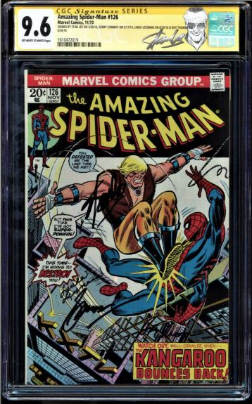 "AMAZING SPIDER-MAN #126 CGC 9.6 OWW SS 4 X""s STAN LEE CGC #1610472019 +++"