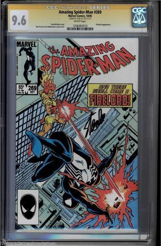 Amazing Spider-man #269 Cgc 9.6 White Ss Stan Lee 2nd Highest #1206483013
