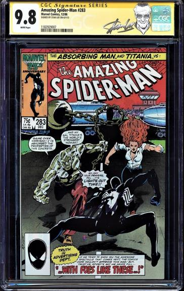 Amazing Spider-man #283 Cgc 9.8 White Ss Stan Lee Highest Cgc Graded #1182929007
