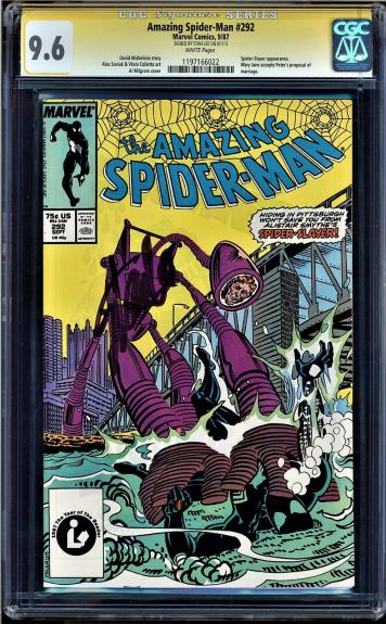 Amazing Spider-man # 292 Cgc 9.6 White Ss Stan Lee Spider-slayer #1197166022