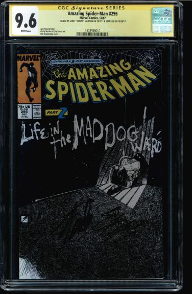 Amazing Spider-man #295 Cgc 9.6 Ss 2x Stan Lee & Janet Jj Jackson #1518958010