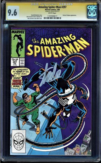 Amazing Spider-man # 297 Cgc 9.6 White Ss Stan Lee Doctor Octopus  #1197099017