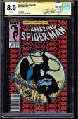 Amazing Spider-man #300 Cgc 8.0 White Ss Stan Lee 25th Anniversary #1227609006