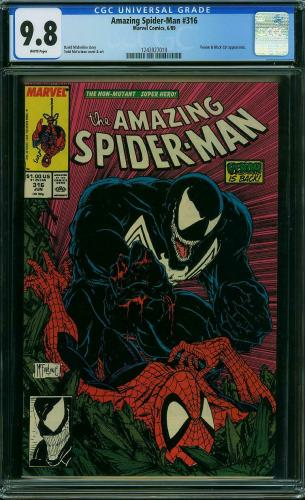 Amazing Spider-man #316 Cgc 9.8 White Pages Cgc #1243927019