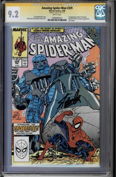 Amazing Spider-man #329 Cgc 9.2 W Ss Stan Lee 1st App Tri-sentinel #1206483012