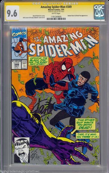 Amazing Spider-man #349 Cgc 9.6 White Ss Stan Lee Signed Cgc #1191269005