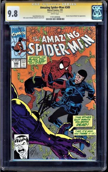 Amazing Spider-man #349 Cgc 9.8 White Ss Stan Lee Signed Cgc #1191269006