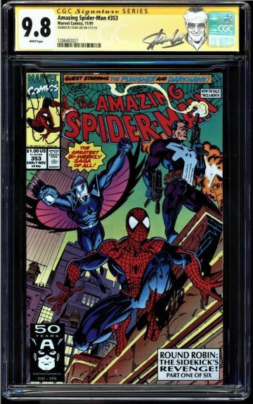 Amazing Spider-man #353 Cgc 9.8 White Ss Stan Lee Highest Cgc Graded #1206482027
