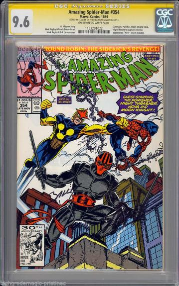 Amazing Spider-man # 354 Cgc 9.6 Ss Signed 2x Stan Lee & Mark Bagley #1183201022