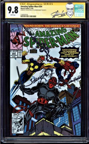 Amazing Spider-man # 354 Cgc 9.8 Ss Signed 2x Stan Lee & Mark Bagley #1182937016