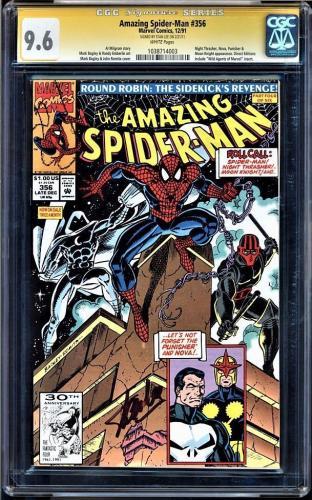 Amazing Spider-man #356 Cgc 9.6 White Ss Stan Lee Cgc #1038714003