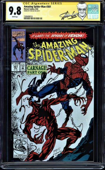 Amazing Spider-man #361 Cgc 9.8 W Ss Stan Lee 1st Full App Carnage #1508498010