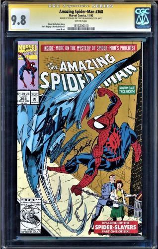 Amazing Spider-man #368 Cgc 9.8 White Ss Stan Lee & Mark Bagley#1813200010