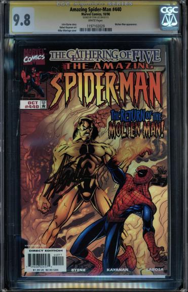 Amazing Spider-man #440 Cgc 9.8 Ss Stan Lee Signed Molten Man #1197102029
