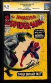 Amazing Spider-man #45 Cgc 9.2 White Ss Stan Lee 3rd App Lizard Cgc  #1113296007