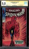 Amazing Spider-man #50 Cgc 5.5 White Ss Stan Lee 1st App Of Kingpin  #1508493013