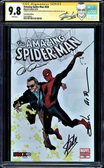 AMAZING SPIDER-MAN #638 CGC 9.8 SS 3X's STAN LEE  *** HOT ***   CGC #1025708057