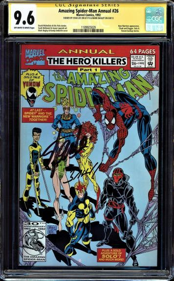 AMAZING SPIDER-MAN ANNUAL #26 CGC 9.8 SS 2X's STAN LEE & MARK BAGLEY #1189925029
