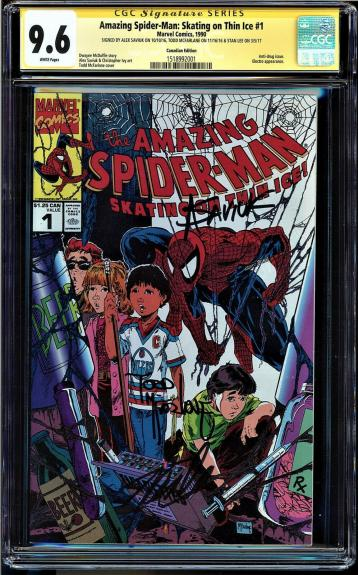 Amazing Spider-man Skating On Thin Ice #1 Cgc 9.4 Ss 3xs Stan Lee ++ #1518992001
