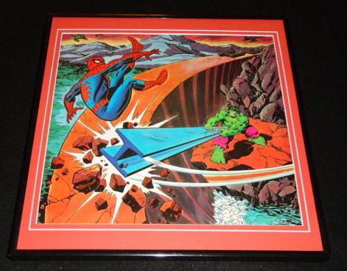 Amazing Spider-Man vs Hulk 1979 ORIGINAL Framed 12x12 Marvel Poster