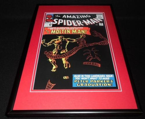 Amazing Spiderman #28 Framed 12x18 Cover Poster Display Official RP Molten Man