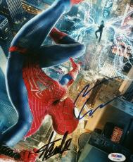 Amazing Spiderman Andrew Garfield Stan Lee Signed Autographed 8x10 Photo PSA/DNA