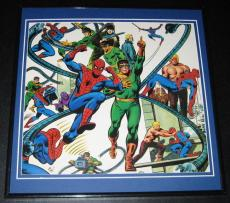 Amazing Spiderman & Doctor Octopus Original Framed 1978 Marvel Poster 12x12