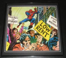 Amazing Spiderman Equal Rights Parade Original Framed 1978 Marvel Poster 12x12