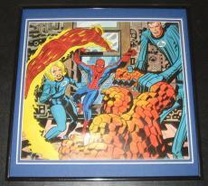 Amazing Spiderman & Fantastic Four Original Framed 1978 Marvel Poster 12x12