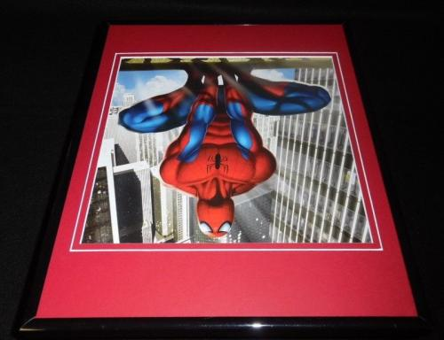 Amazing Spiderman Hanging Upside Down Framed 11x14 Photo Display