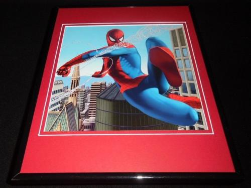 Amazing Spiderman Spinning Web Framed 11x14 Photo Display